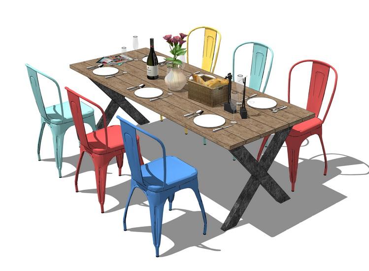 餐桌SU模型