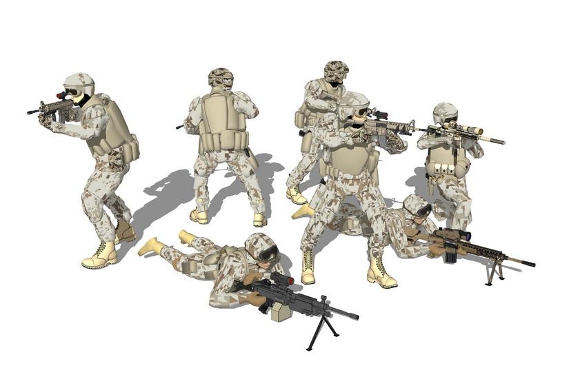 士兵SU模型
