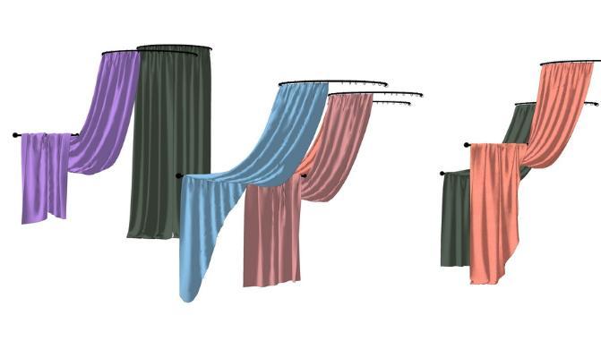窗簾組合SU模型