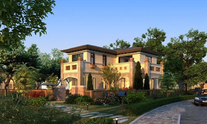 现代别墅3D模型