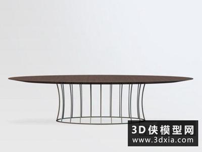 现代椭圆餐桌