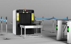 现代安检机3D模型