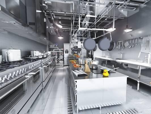 现代后厨3D模型下载