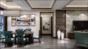 中式客廳餐廳臥室書房3D模型