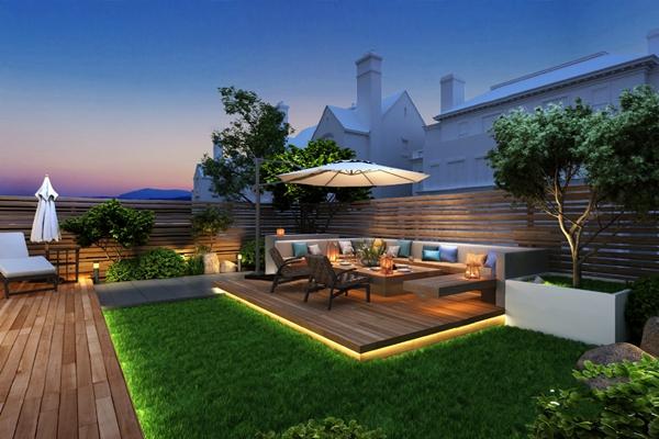 现代庭院3D模型