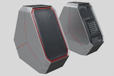 现代电脑游戏主机3d模型
