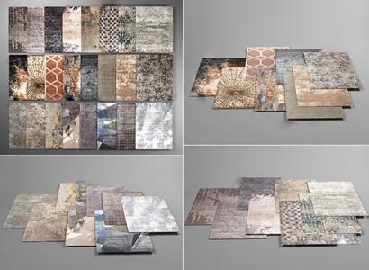 简欧图案地毯组合 简欧家纺 地毯 图案地毯