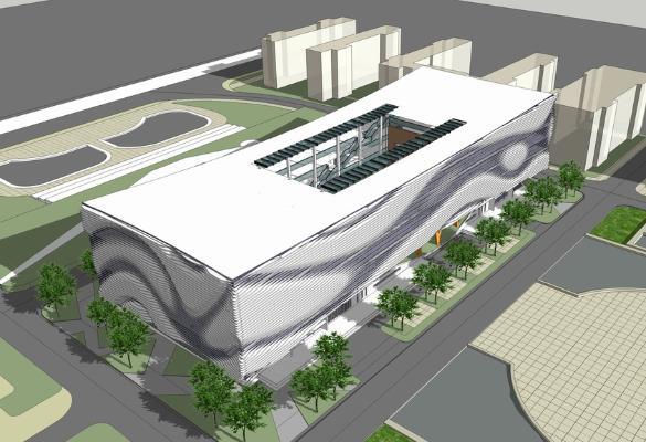 现代博物馆SU模型