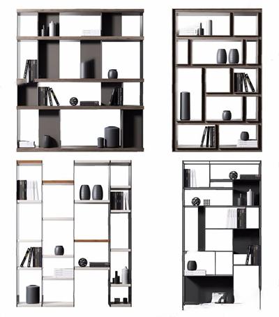现代装饰柜装饰架 现代装饰架 装饰柜 书架 饰品 摆件 书