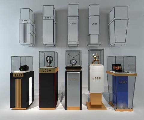 现代展示柜3D模型