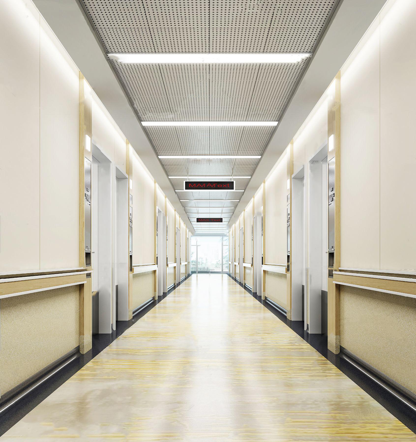 现代医院走道3d模型
