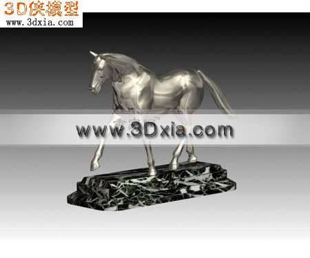 漂亮的马雕塑品3D模型