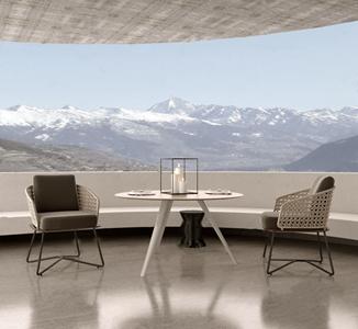 Minotti现代户外桌椅组合 现代户外椅 茶几 凳子 Minotti
