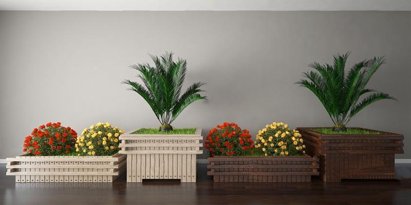 户外花坛3D模型