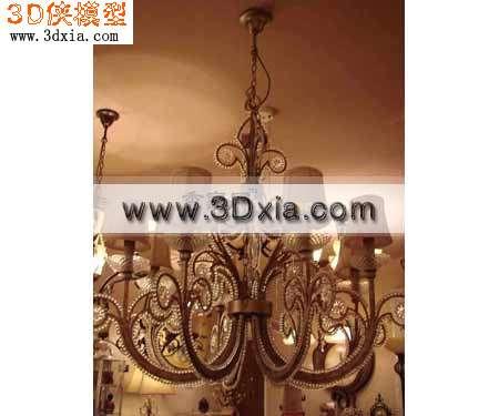3D模型-高贵的吊灯