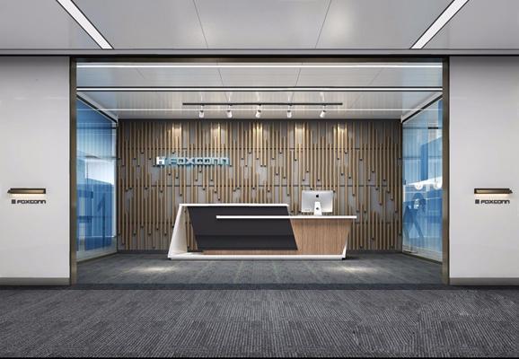 办公室门厅吧台 现代办公门厅 服务台 接待台 入口 吧台 背景墙