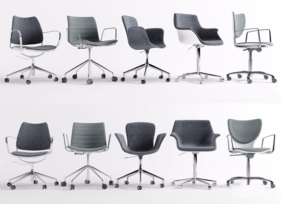 现代休闲办公椅组合 现代办公椅 休闲办公椅组合