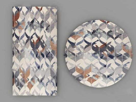 北欧地毯3D模型下载