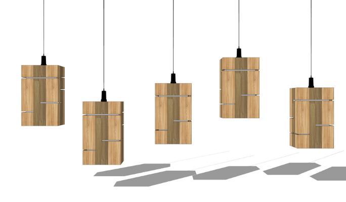 现代吊灯SU模型
