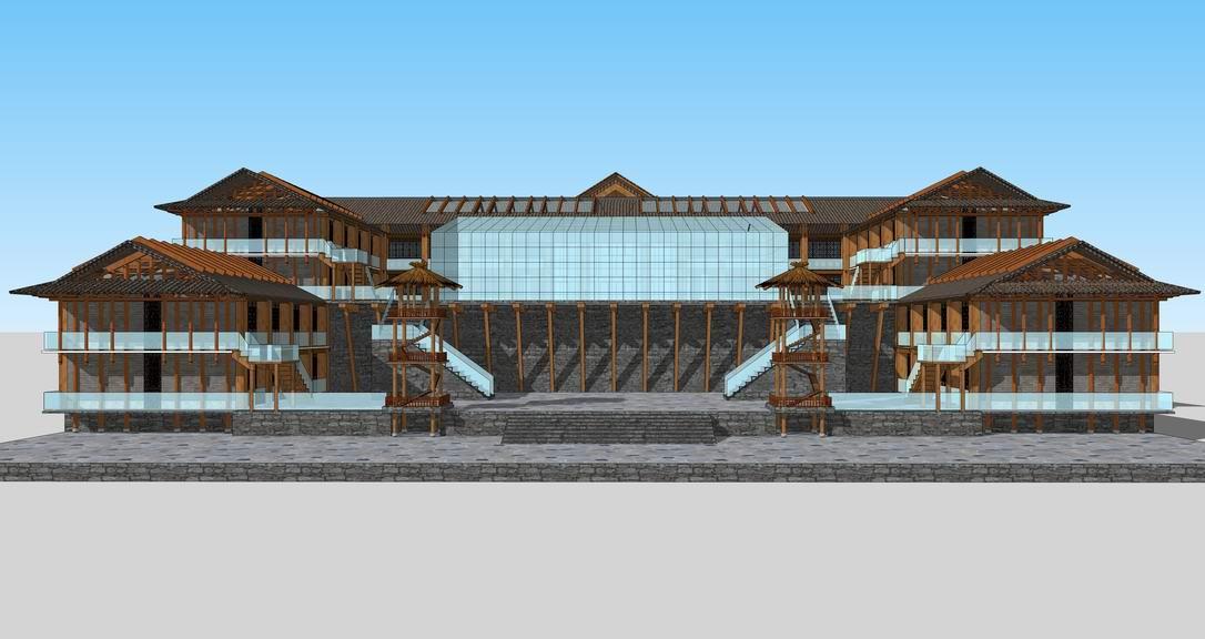 土家酒店SU模型