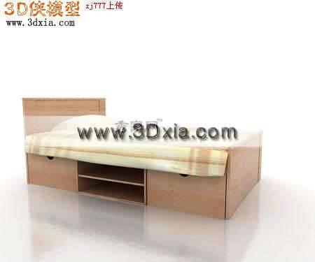 精选儿童床3D模型
