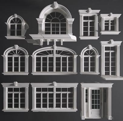 欧室窗户门组合 欧室窗户 门