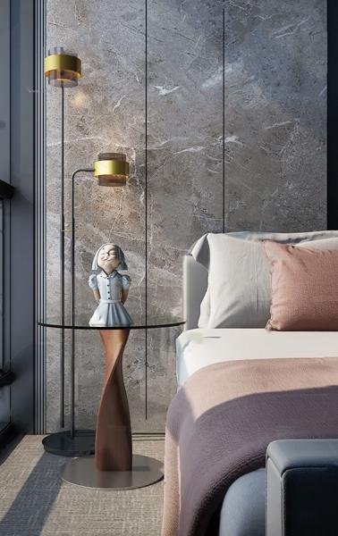 赛瑞迪普设计 现代玻璃圆形床头柜3d模型