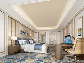 现代酒店双人房客房