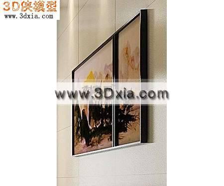 精美的中国画3D模型