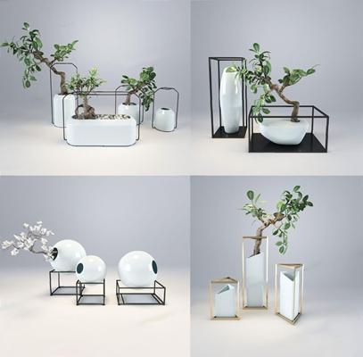 米兰映象装饰摆件 盆景 摆件 装饰 陈设 新中式盆栽 米兰映象
