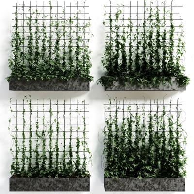 现代绿植墙装饰 现代植物墙 绿植墙装饰