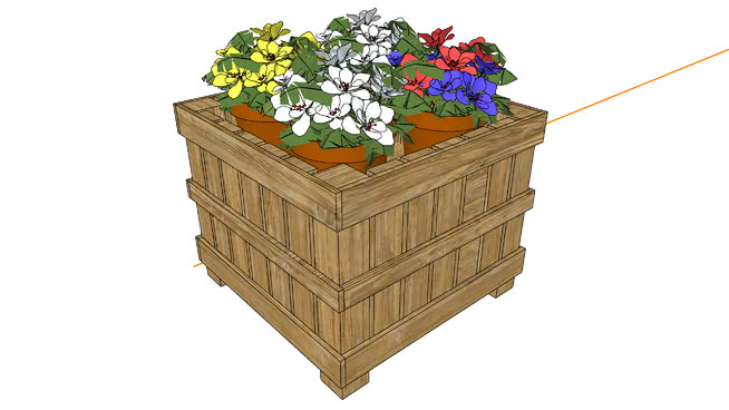 花卉展示---盆栽花卉--- 1 篮子 盒子 箱子 杂物筐 板条箱(木箱)