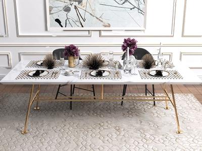 后现代轻奢餐桌餐具摆件组合 后现代餐具/厨具 餐桌 现代轻奢餐具摆件组合