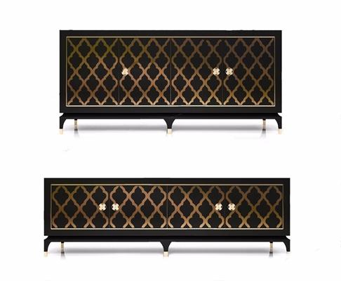 新古典电视柜餐边柜组合 新古典电视柜 餐边柜 储物柜
