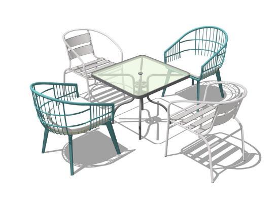 户外桌椅SU模型