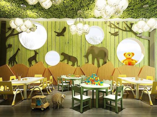 现代幼儿吊灯玩具雕刻版组合 现代幼儿园 吊灯 玩具 雕刻版 儿童桌椅 动画背景墙 现代幼儿园 吊灯 玩具 雕刻版 儿童桌椅 动画背景墙
