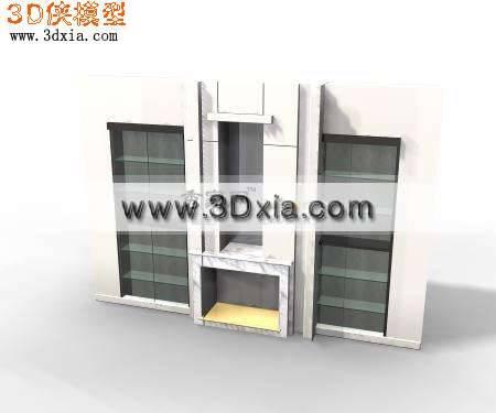非常精致的酒柜3D模型