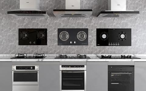 油烟机燃气灶消毒柜组合 现代厨房用品 油烟机 燃气灶 消毒柜 美的 老板