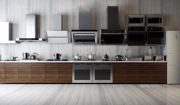 厨房用品 厨房用品 油烟机 橱柜 操作台 锅 水槽 烤箱
