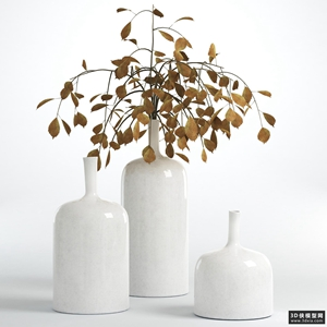 装饰花瓶模型组合