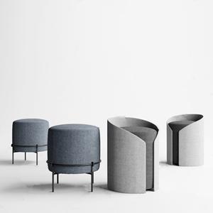 现代凳子组合 现代凳子 圆凳
