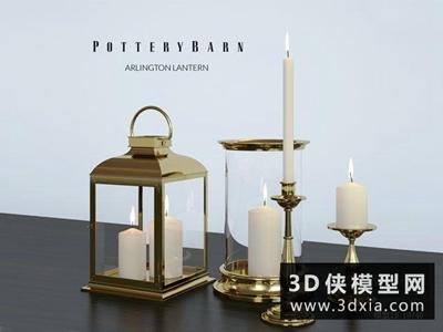 现代金属烛台