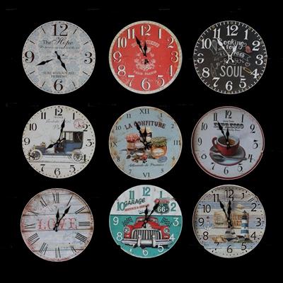 现代挂钟组合3D模型
