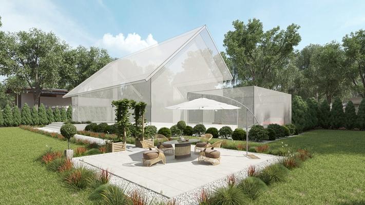 现代室外绿植园林休闲桌椅组合