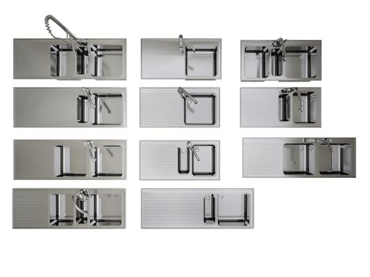 現代水槽洗菜盆組合3D模型