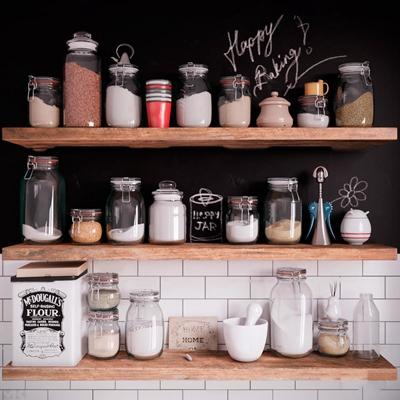现代储物罐置物架组合3d模型