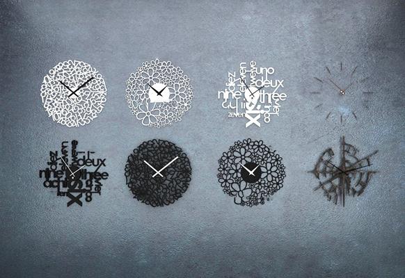 现代时尚挂钟组合3D模型