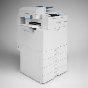 现代复印机打印机3D模型