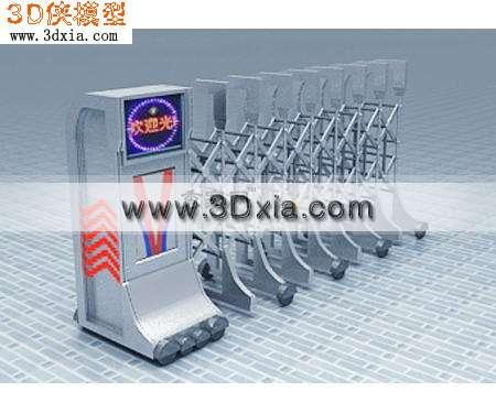 电子移动门3D模型