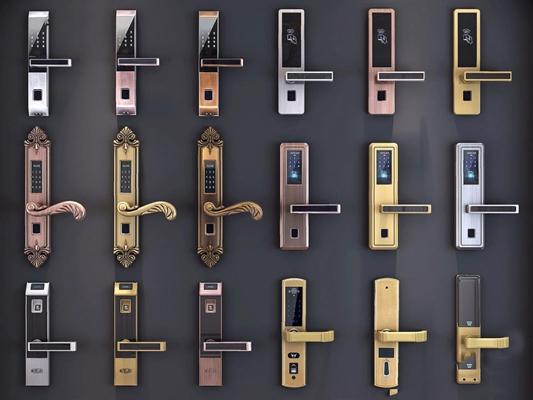 智能指纹锁 欧式古典五金 拉手 指纹锁 智能指纹锁
